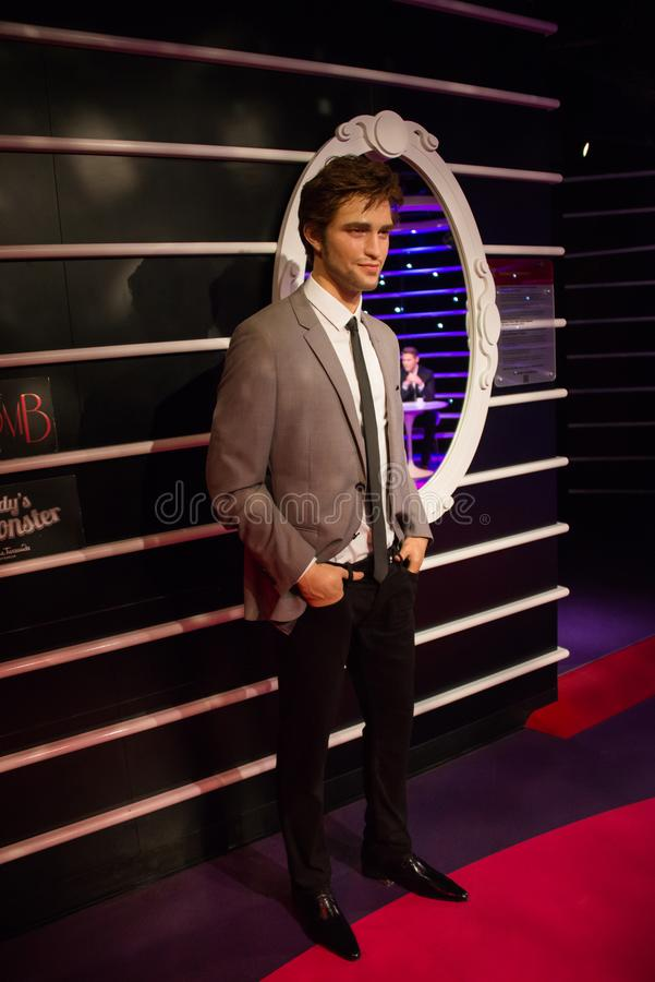 Роберт Дуглас Томас Pattinson в музее Мадам Tussauds стоковая фотография