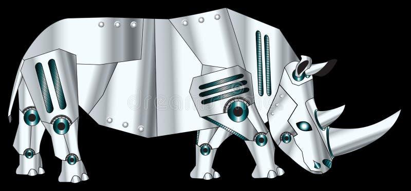 Робототехнический носорог иллюстрация вектора