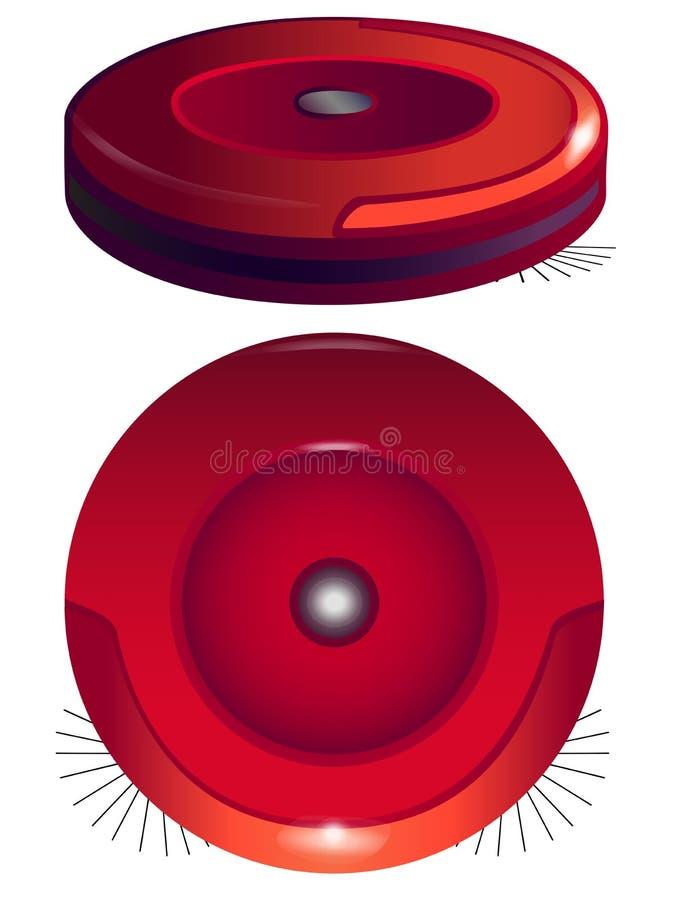 Робототехнический пылесос в 2 углах Робот Hoover иллюстрация штока