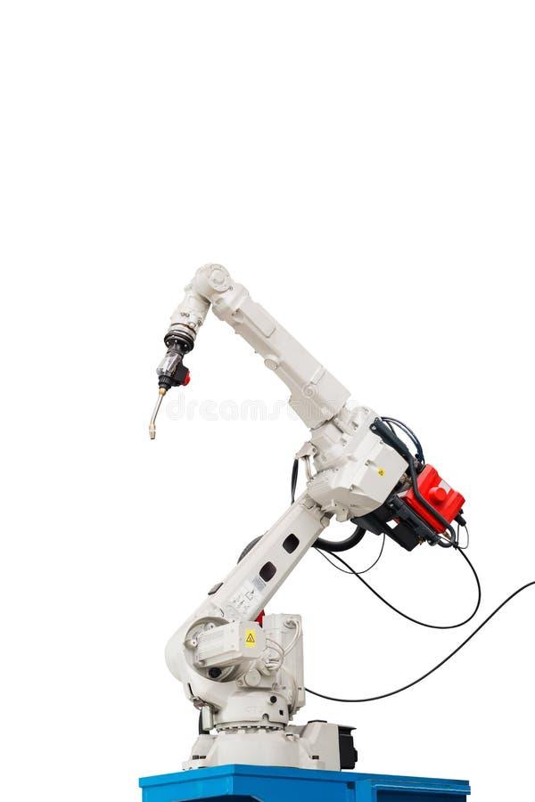Робототехнический сварочный аппарат дуговой сварки стоковое изображение rf