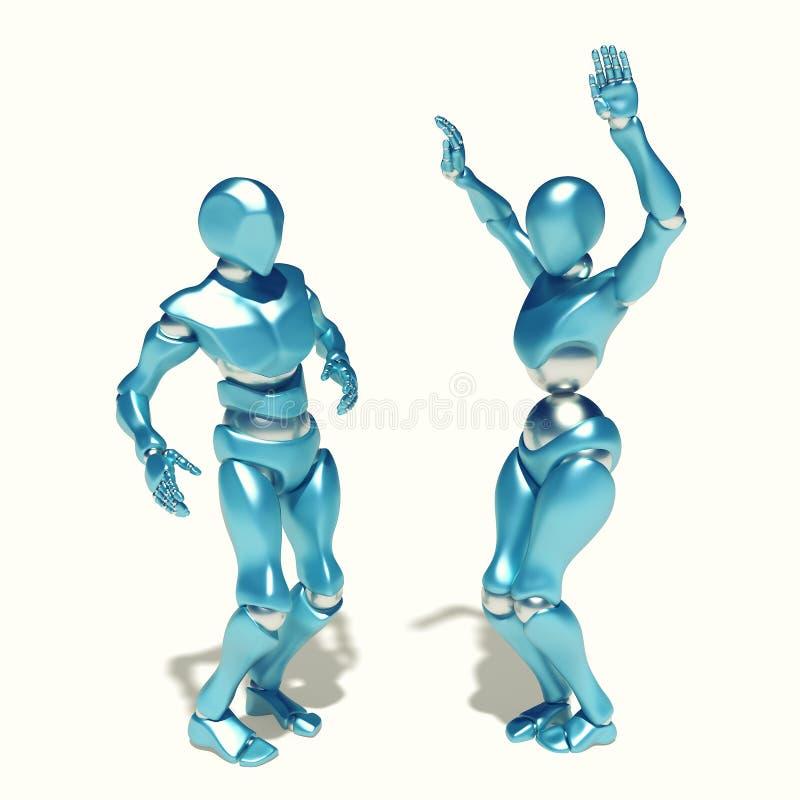 Роботы танцев иллюстрация вектора