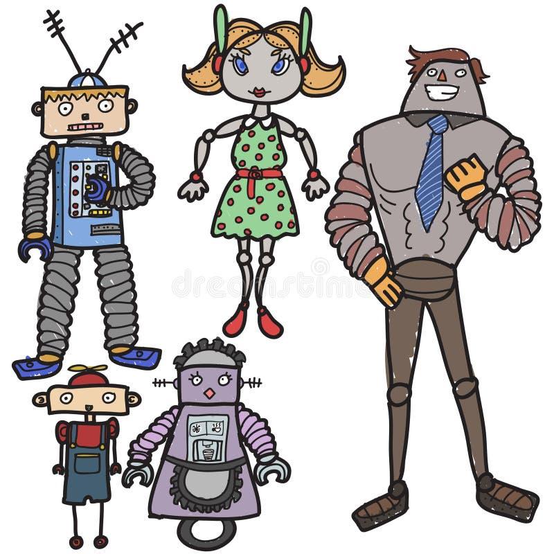 Роботы бесплатная иллюстрация