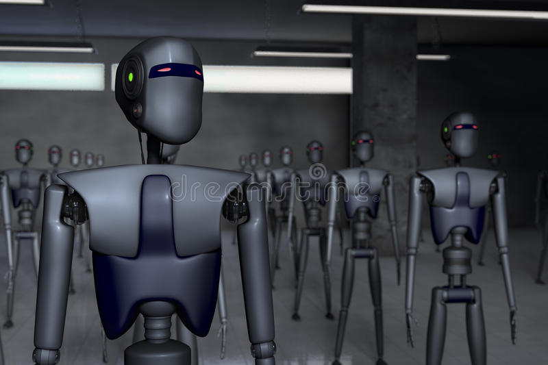 роботы иллюстрация штока