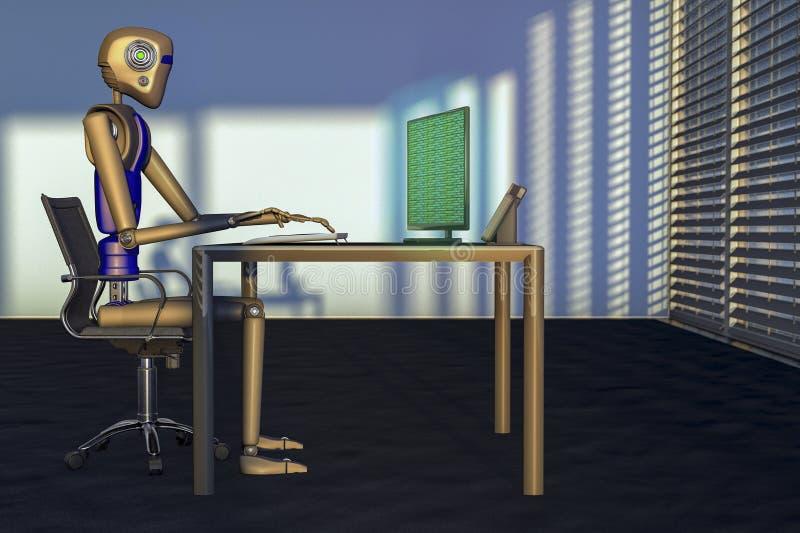 роботы иллюстрация вектора