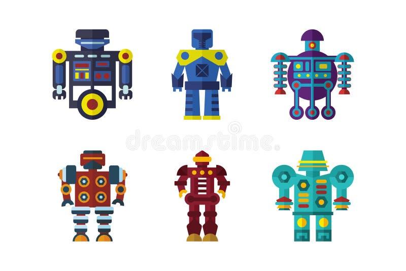 Роботы vector комплект стоковое изображение