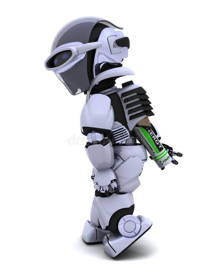 робот батарей иллюстрация вектора