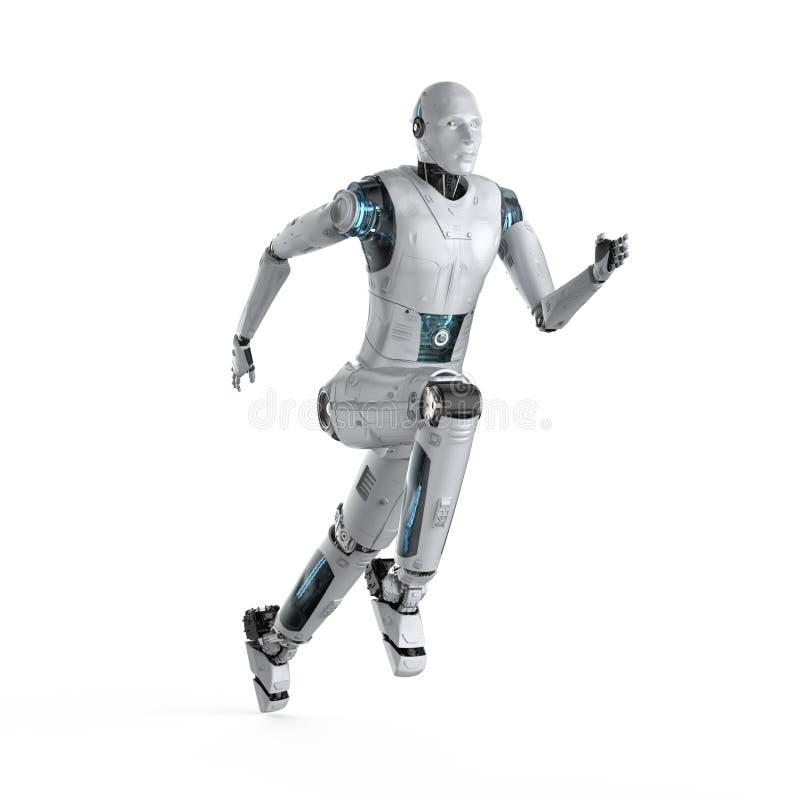 Робот бежать или скача иллюстрация штока