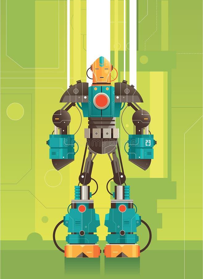 Робот высокой технологии футуристический бесплатная иллюстрация