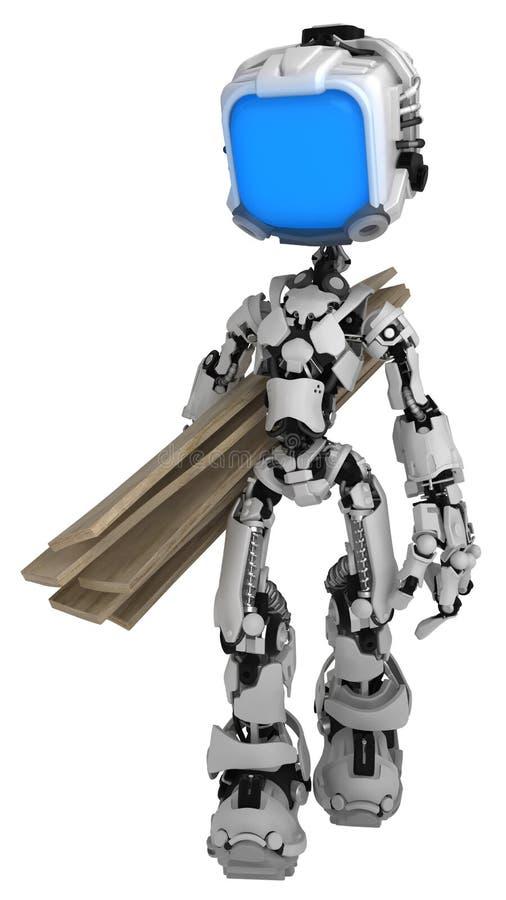 Робот в реальном маштабе времени экрана, пиломатериал
