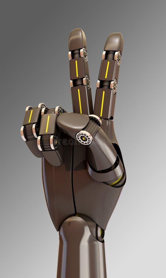 Робот делая жест победы бесплатная иллюстрация