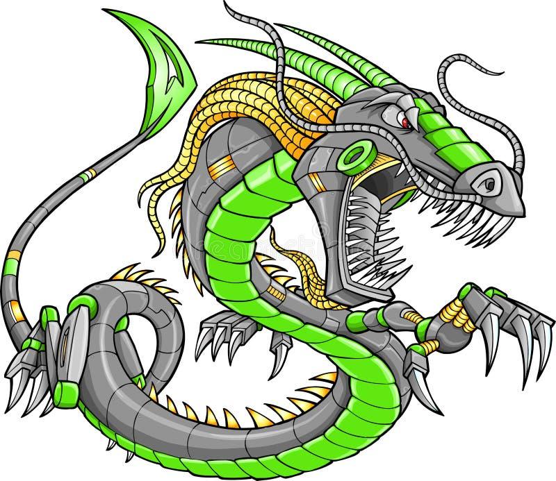 робот зеленого цвета дракона cyborg бесплатная иллюстрация