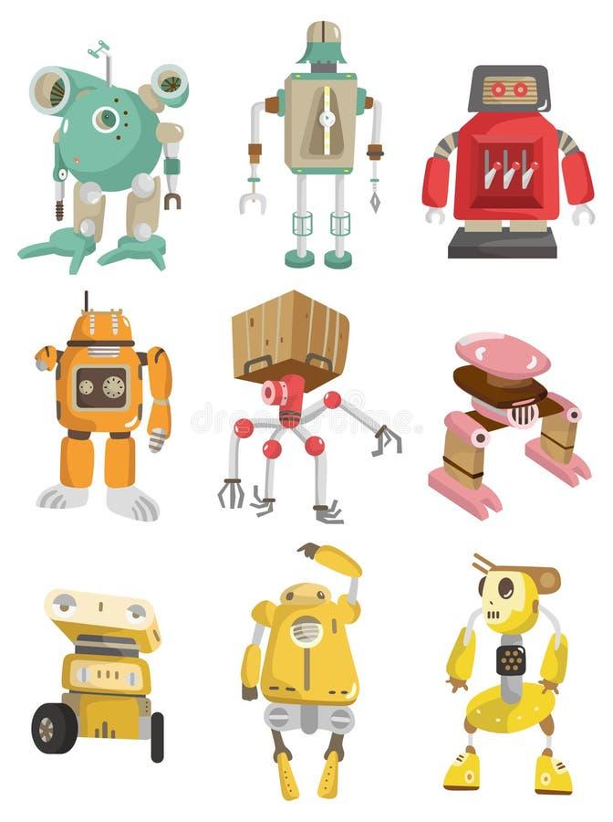 робот иконы шаржа иллюстрация штока