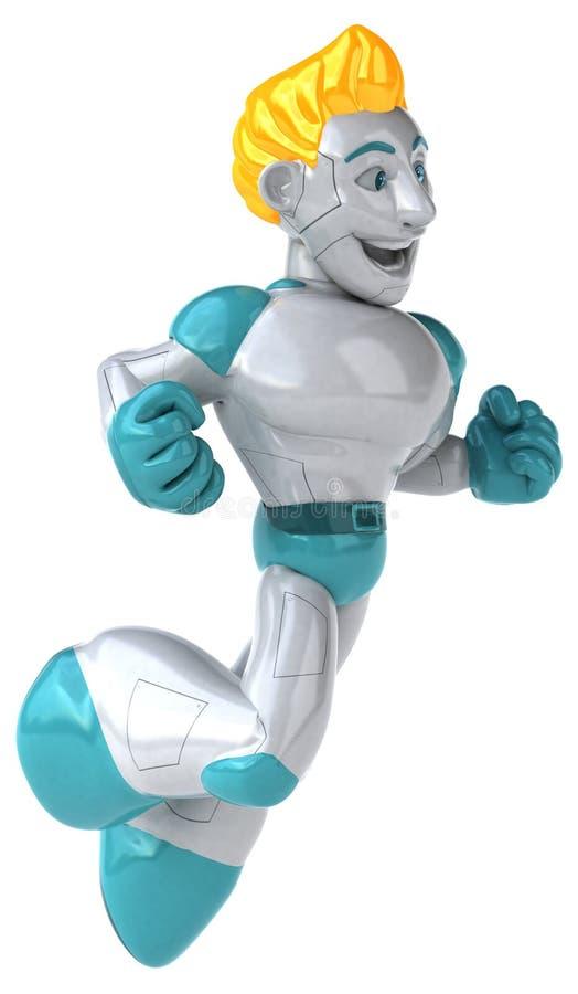 Робот - иллюстрация 3D иллюстрация штока