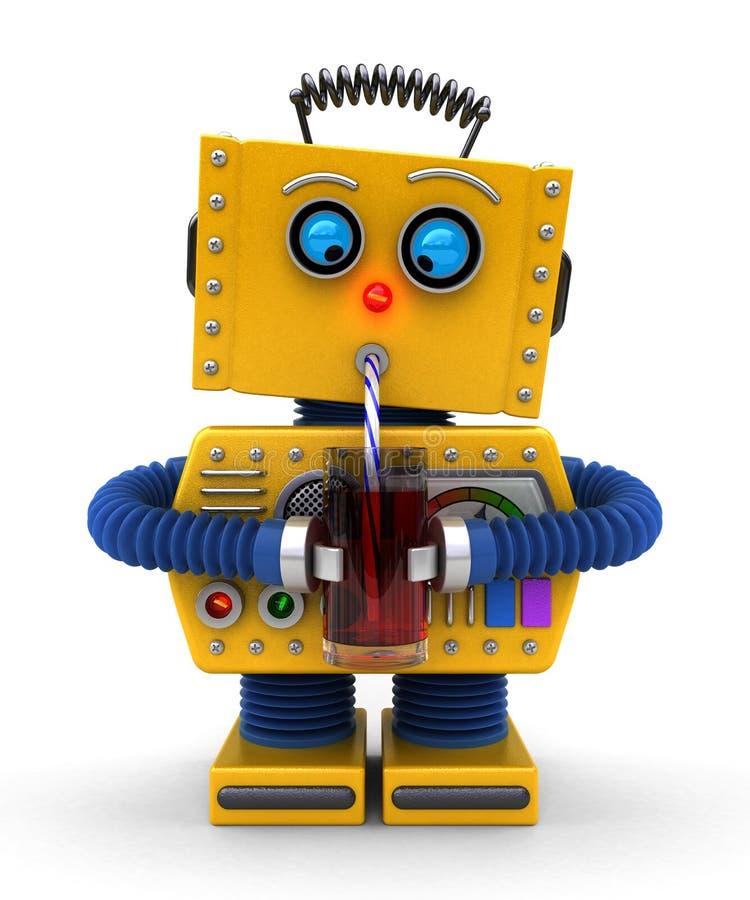 Робот имея питье иллюстрация штока