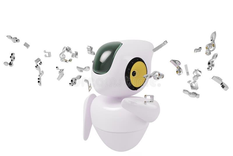 Робот мюзикл научной фантастики иллюстрация штока