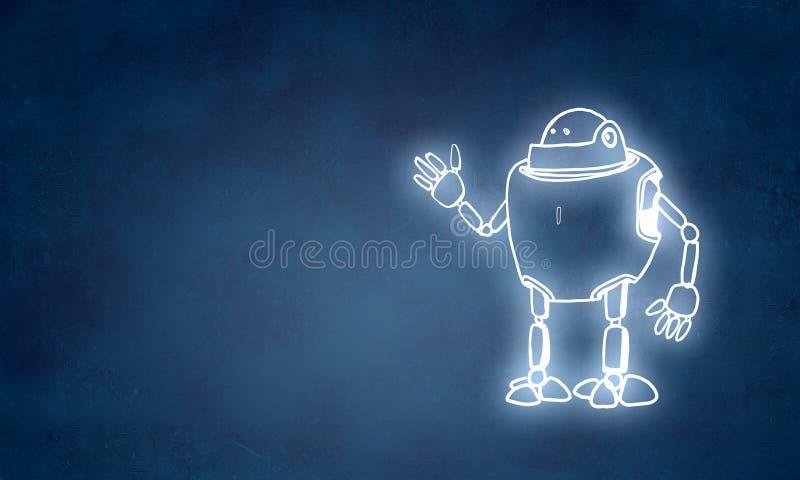 Робот нарисованный рукой бесплатная иллюстрация