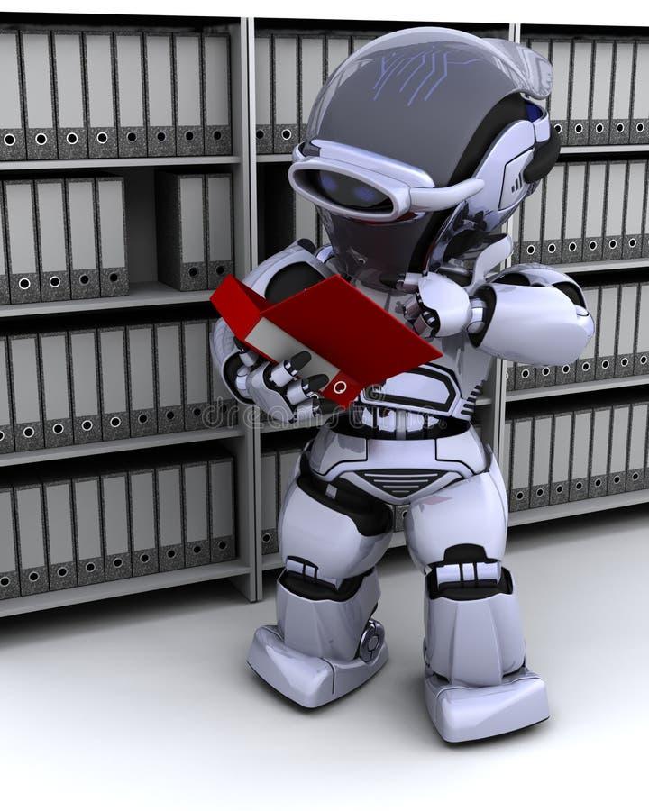 робот опиловки документов иллюстрация штока