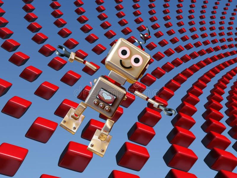робот предпосылки милый бесплатная иллюстрация