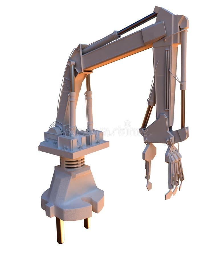 робот силы штепсельной вилки иллюстрация вектора