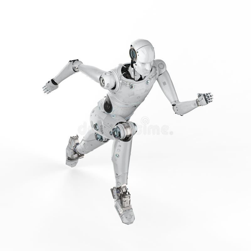 Робот скача или бежать иллюстрация штока