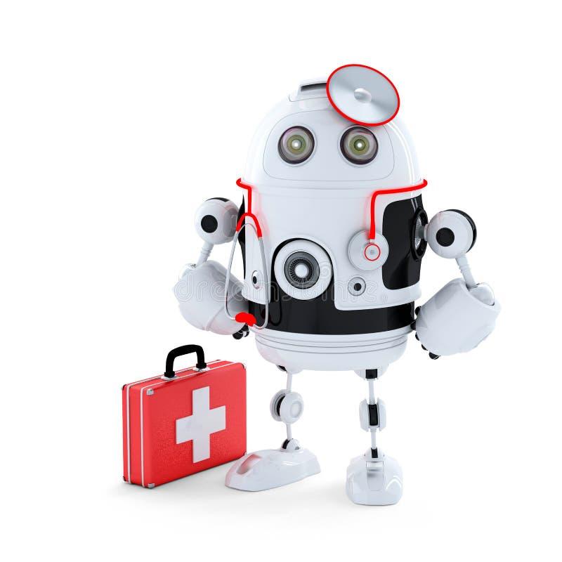 Робот сотрудник военно-медицинской службы. бесплатная иллюстрация