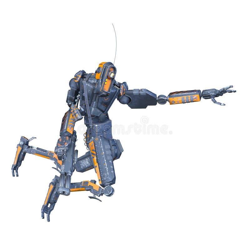 Робот сражения иллюстрация штока