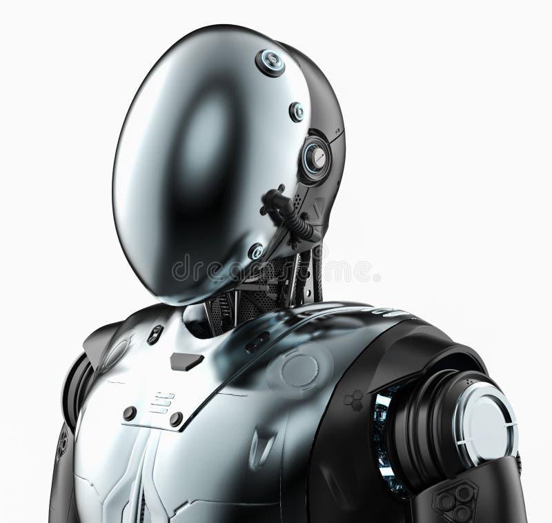 Робот с лицевым щитком гермошлема бесплатная иллюстрация