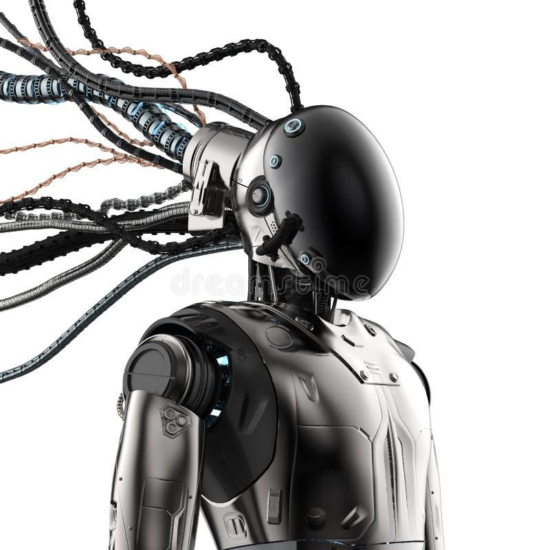 Робот с лицевым щитком гермошлема иллюстрация вектора