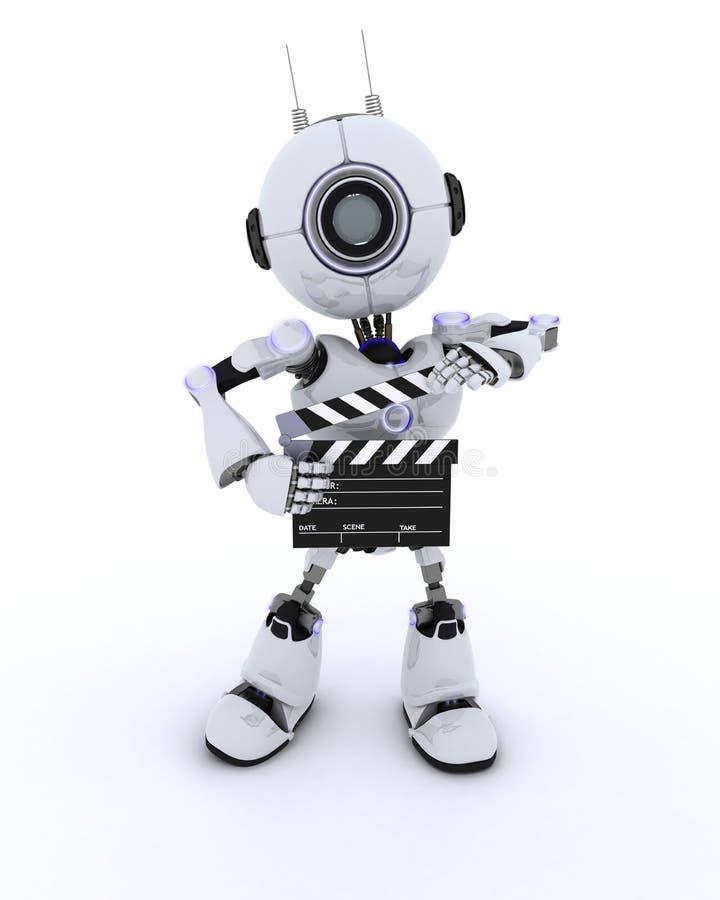 Робот с нумератором с хлопушкой бесплатная иллюстрация