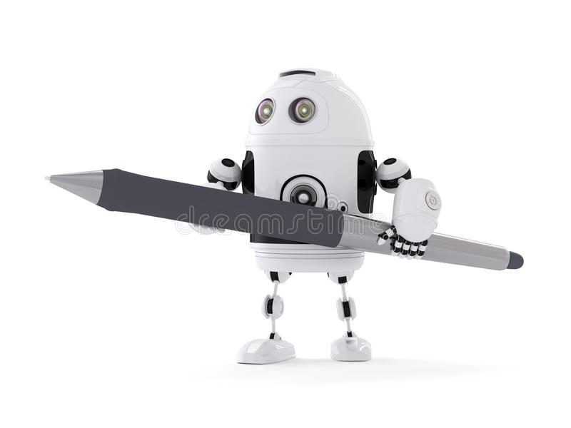 Робот с ручкой бесплатная иллюстрация