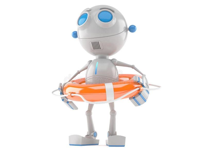 Робот с томбуем жизни бесплатная иллюстрация