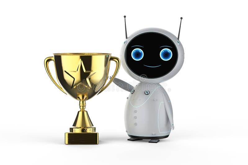 Робот с трофеем бесплатная иллюстрация