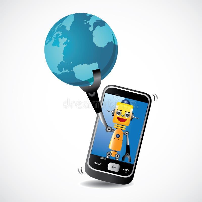робот телефона бесплатная иллюстрация