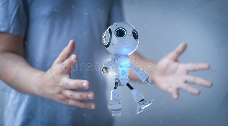 Робот управления человеком стоковое изображение