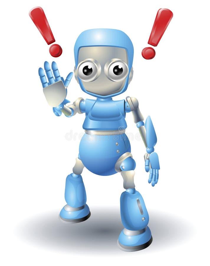Download робот характера предосторежения милый Иллюстрация вектора - иллюстрации насчитывающей ладонь, смешно: 18392834