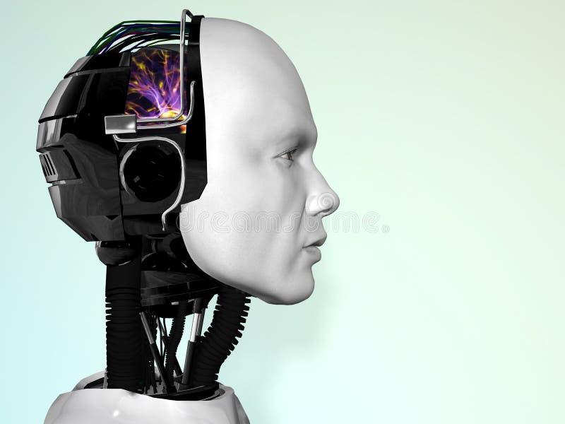 робот человека стороны иллюстрация вектора