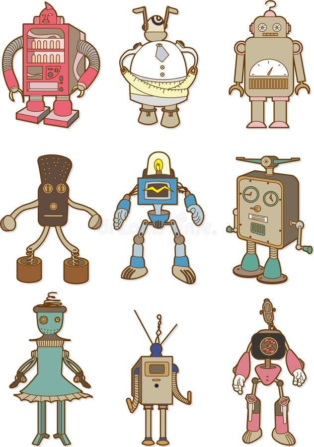 робот шаржа иллюстрация штока