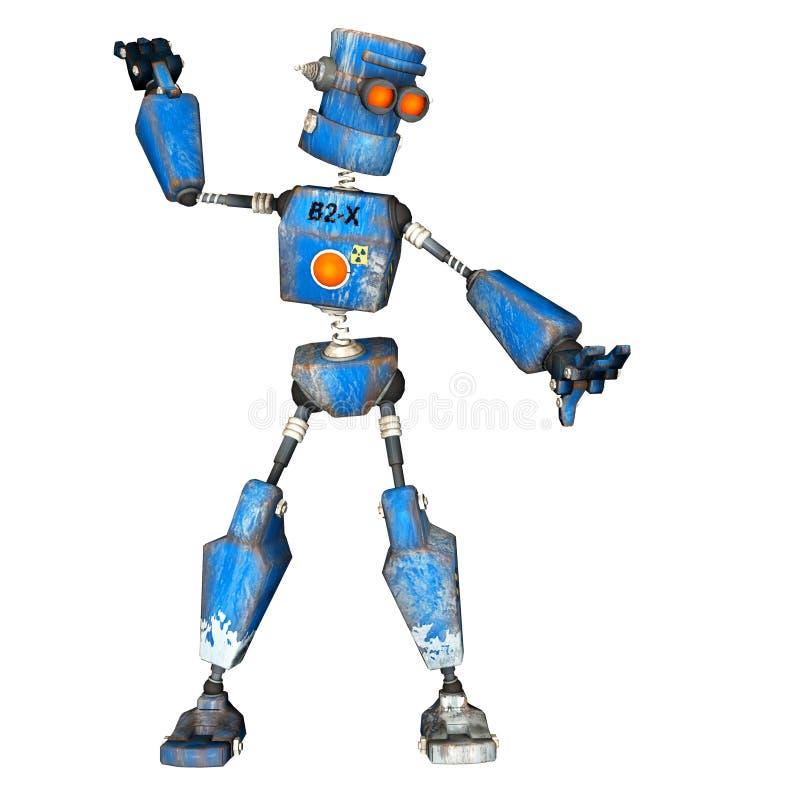 робот 10 син иллюстрация вектора
