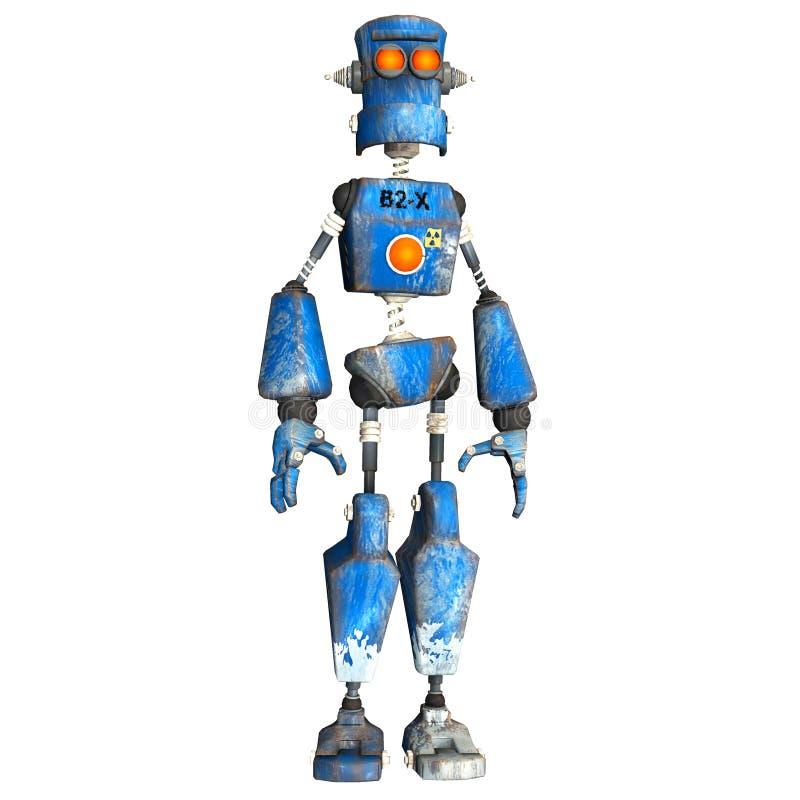 робот 3 син иллюстрация вектора