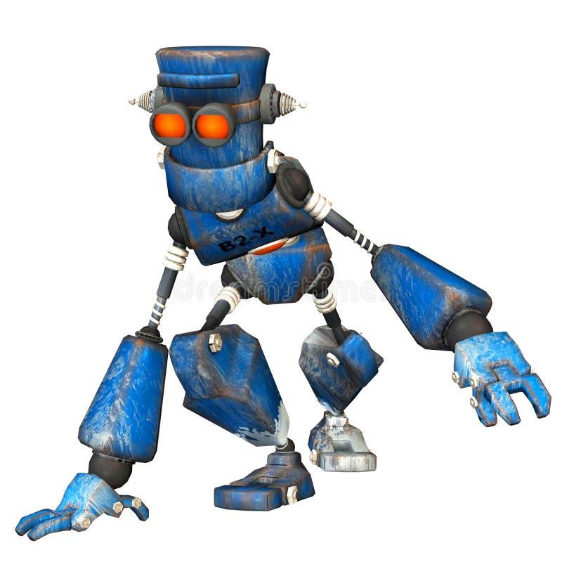робот 6 син иллюстрация штока