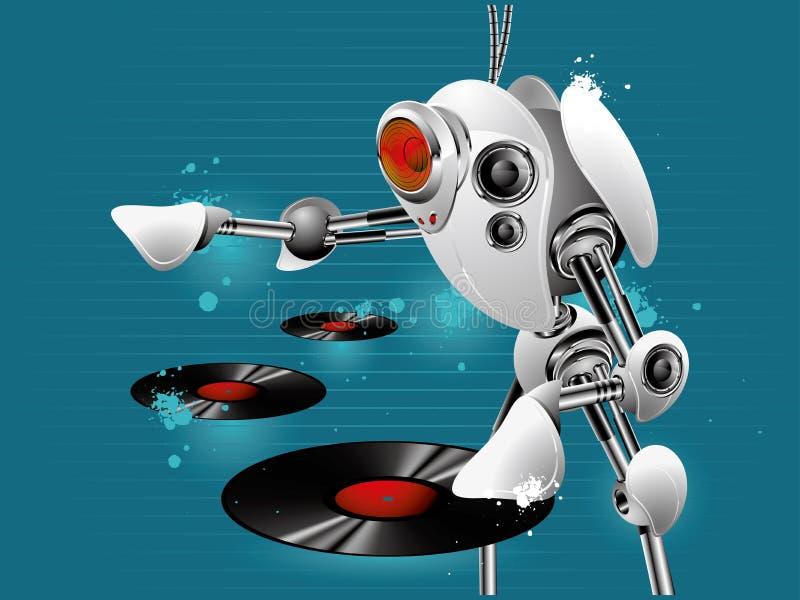 робот dj иллюстрация штока