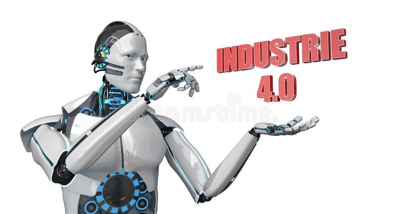 Робот Industrie 4 бесплатная иллюстрация