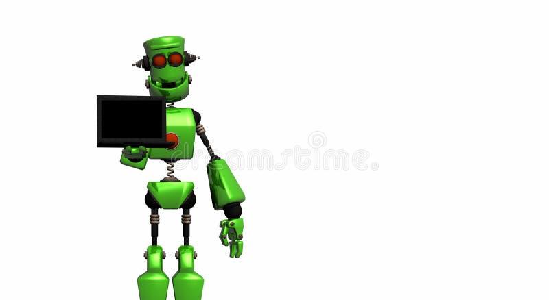 робот labtop иллюстрация штока