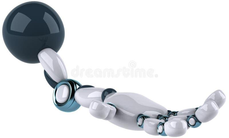 робот s рукоятки иллюстрация штока