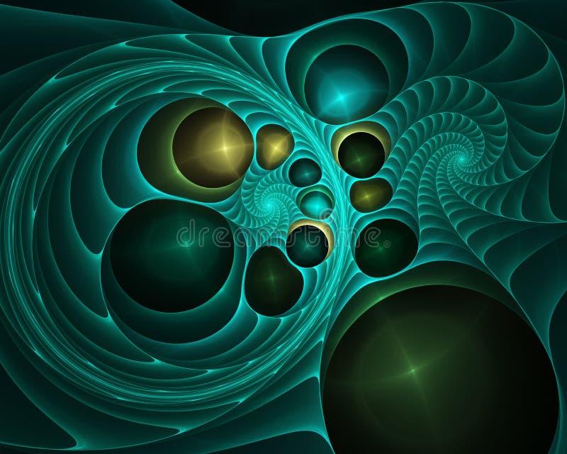 Ровная предпосылка конспекта волны, пропуская накаляя концепция движения цвета иллюстрация вектора