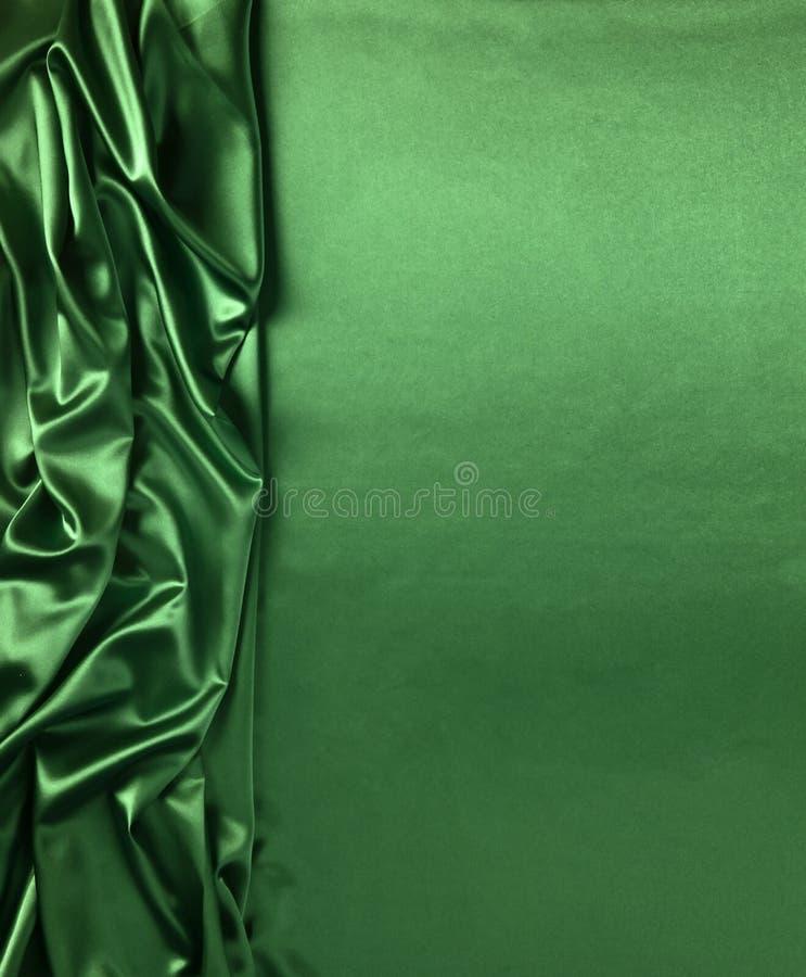 Ровная элегантная зеленая текстура шелка или сатинировки стоковое изображение
