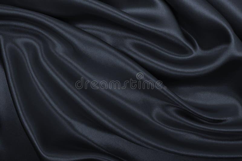Ровная элегантная темная серая текстура шелка или сатинировки как абстрактное backg стоковое фото rf