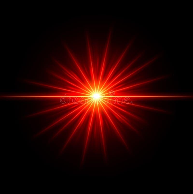 Ровные цепи световых маяков с вектором влияния объектива иллюстрация штока
