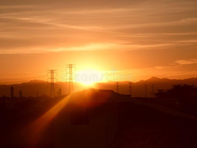 Ровный горизонт опоры утра de janeiro rio стоковое фото rf