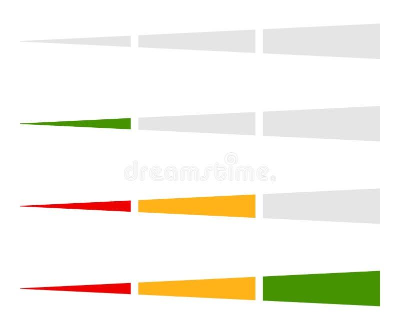 Download Ровный индикатор, элемент бара прогресса в комплекте Иллюстрация вектора - иллюстрации насчитывающей максимум, процесс: 81801033